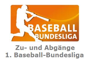 Zu- und Abgänge der 1. Baseball-Bundesliga