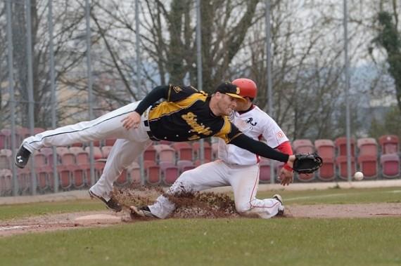 Auch Spiel zwei zwischen den Reds und Disciples war spannend (Foto: Iris Drobny, www.drobny.photography)