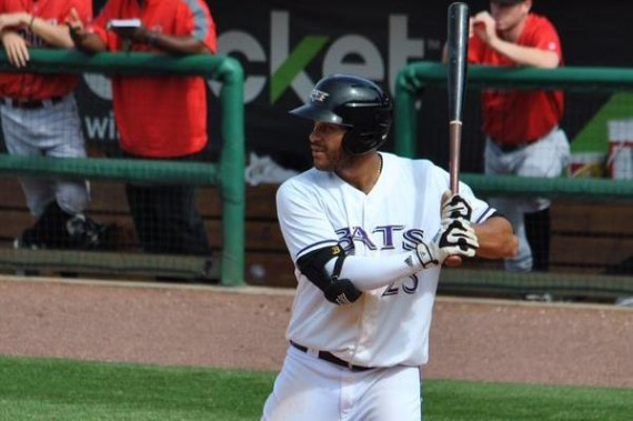 Donald Lutz im Einsatz in der International League für die Louisville Bats