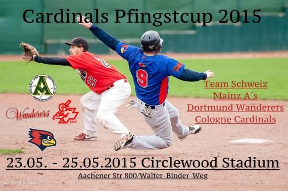 Pfingstcup der Cologne Cardinals mit Mainz Athletics, Dortmund Wanderers und der Schweiz