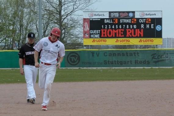 Die Mainz Athletics hoffen nun auf viele Thomas De Wolf Homeruns (Foto: Iris Drobny, www.drobny.photography)