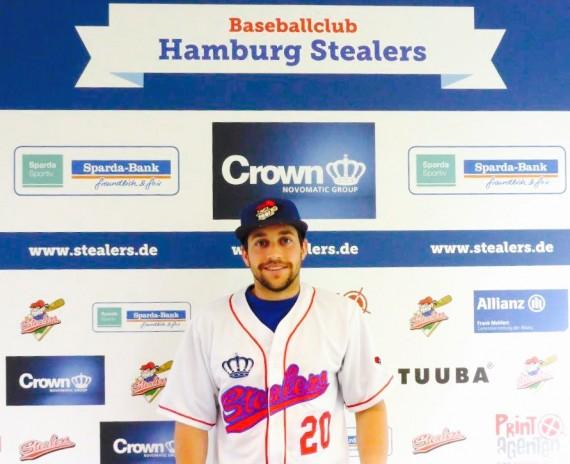 Nathan Poff wird auch dieses Jahr für die Stealers in der 1. Baseball-Bundesliga auflaufen