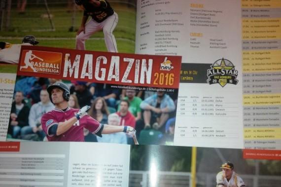 Das Saisonmagazin von Baseball-Bundesliga.de erhältlich bei allen Erstligavereinen