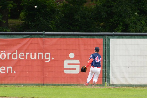 Dem Grand Slam von Nolan Lang konnten die Regents nur nachschauen (Foto: Gregor Eisenhuth, www.eisenhuth-photographie.de)