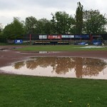 Regen in Hamburg / Doubleheader gegen Regents am Sonntag